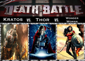 Death Battle: Kratos vs. Thor vs. Wonder Woman by SpikeJet2736