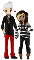Bill X Kassy - Tokio Hotel by NekoMellow