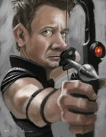 Jeremy Renner as Hawkeye by DevonneAmos