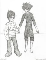 Hiei and L- Forced Cosplay by Coffee-Fae