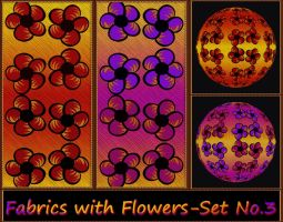 Fabrics with Flowers - Set No.3 by allison731