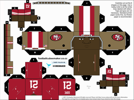 Frank Gore 49ers Cubee by etchings13