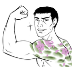 Chris Redfield has a cute tattoo by ZombieCoffeeCup