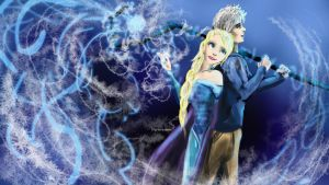 The Ice Couple by goldenmurals