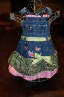 CARAUT- ALTERED: Little Girls Denim Country Jumper by Caraut