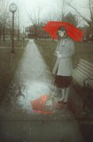 Red Umbrella by lombrascura