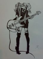 Guitar Girl by darkabyss777