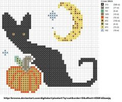 Cat with Pumpkin by carand88