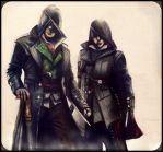 Jacob and Evie Frye-Assassins creed syndicate by gilly15
