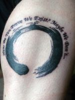 Enso Circle and Quote by xhaplox