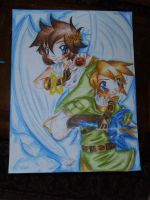 POSTER: Link and Pit  SSBB by Rebe-chan-vk