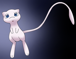 Mew in the ligth by Thunderwest