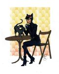 Catwoman Isis and a latte in color by Hillary-CW