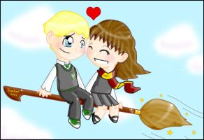 Draco and Hermione - Commision by gryffindor-girl