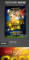 Soccer Game Flyer Template by ImperialFlyers