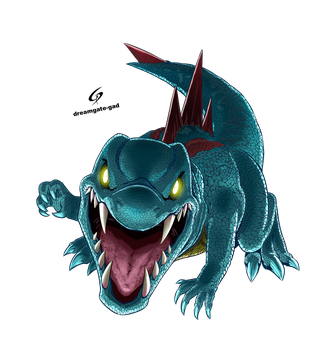 Totodile's Scary face by Gad by Dreamgate-Gad