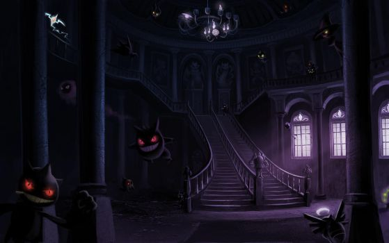 Haunted Mansion - Wallpaper by arkeis-pokemon