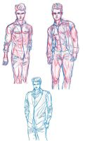 Col erase red body and col erase blue clothes by southpawdragon