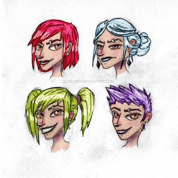 Rose Hairs by SunChief