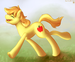 Happy Braeburn by ApertureIndigo