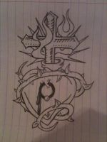 heart cross vine thingy by VioletsForTears