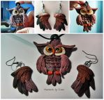 Owl Polymer Clay by SweetIva