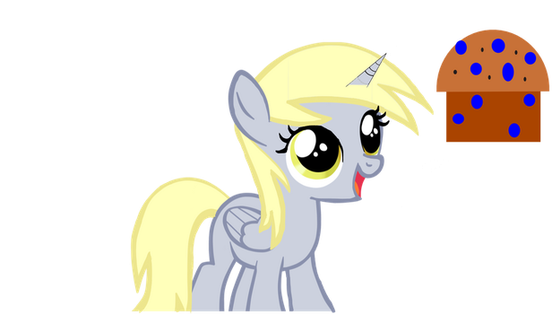 Derpy Hooves with horn by thatdudefail