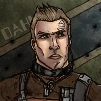 Axton Portrait speedpaintish by SophiaDragonMaster