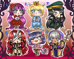Fantasy Chibi Adoptables 5$/400points (OPEN! 3/6) by Tsukahime