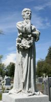 Mount Olivet Cemetery Woman 178 by Falln-Stock