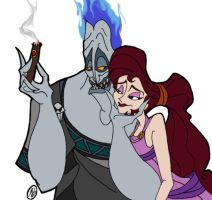 Hades and Megara by msfeistus