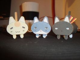 Hetalia Papercraft Kittehs by KimiMonsterKitty
