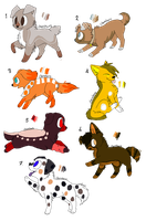 Puppy adopts Batch 1 -CLOSED- by Jirachi-Adopties