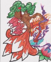 Courtney The 9 Tailed Fox by gr144gra4417