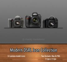 Modern DSLR Icon Collection by mackiewicz