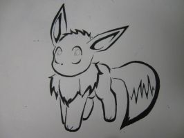Eevee Tattoo Deisgn by Aqua-Frost