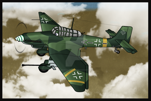 Warbirds: Ulrich Ju-87G-2 by TheAngryFishbed