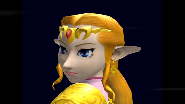 Zelda (Smash) Trophy Closeup SSBM 6 by SuperMario811