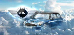 Mini over the clouds by 96design