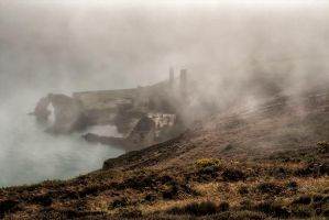 Porth-Wen in the mist by CharmingPhotography
