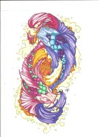 Colorful Koi by Crazy-Voodoo-Lady
