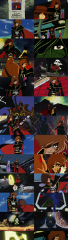 Captain Harlock and Galaxy Express 999 by TheWolfPoet23