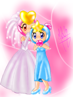 Pretty Wedding and Aqua Bridesmaid by SailorBomber