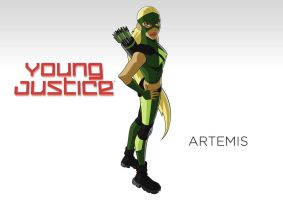 Young Justice Artemis (static title scene) by MOMOpJonny
