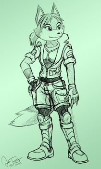 Star Fox Blaze -sketch- by BlazeTBW