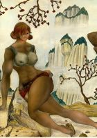 Mountain Maid of the highland by MuscleWomen-Planet