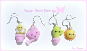 Kawaii plants earrings by Bojo-Bijoux