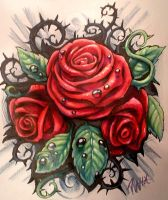 rose tattoo design by JWheelwrighttattoos