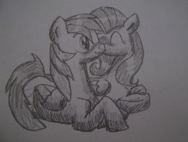 .:Flutterdash:. ~sneaking a kiss~ by MareToMare