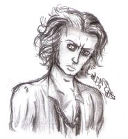 Quick sketch of Sweeney Todd. by DragonaTodd